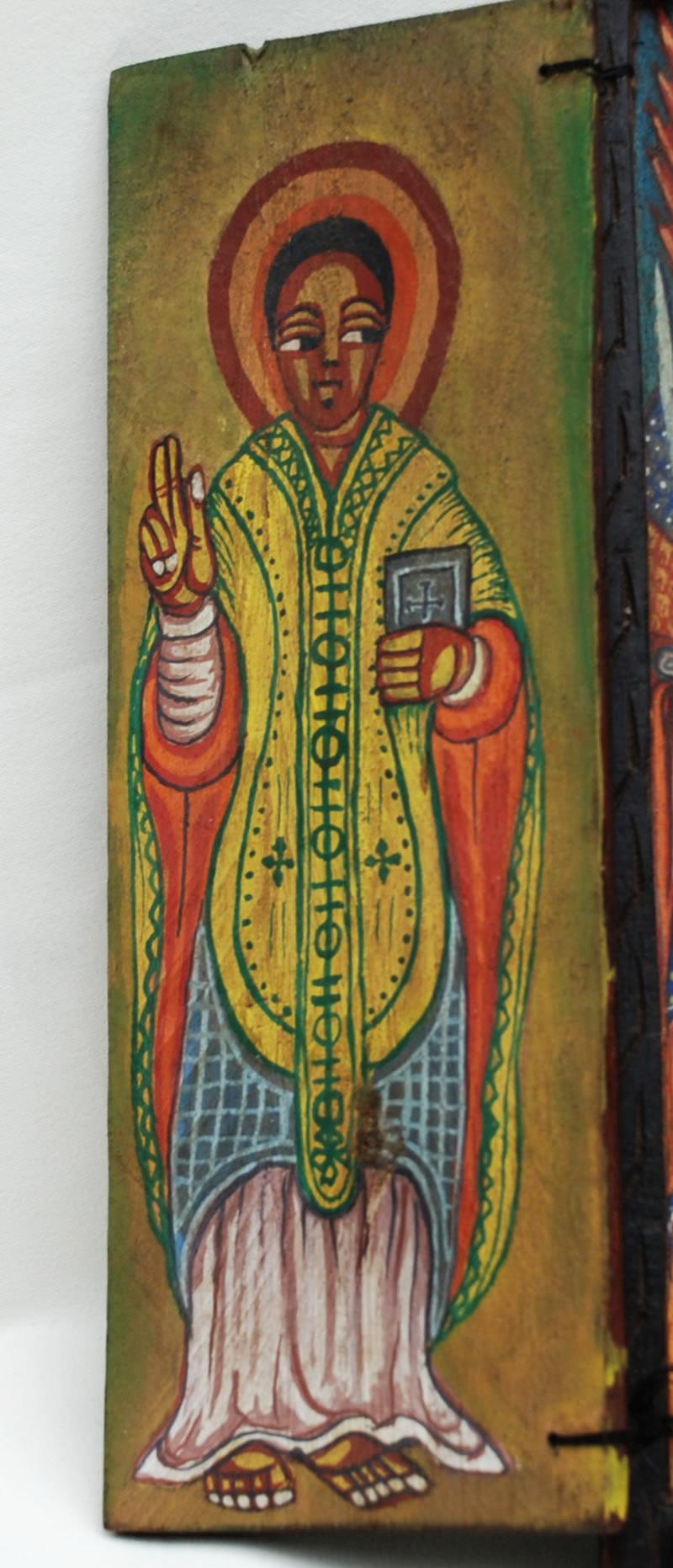 thiopien ikone koptisch orthodox diptychon ethiopia icon african art ethiopie ebay. Black Bedroom Furniture Sets. Home Design Ideas